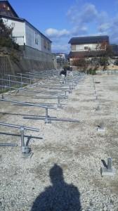 太陽光架台 単管パイプ 福岡市 写真