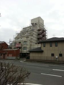改修足場 ホテル 福岡 写真
